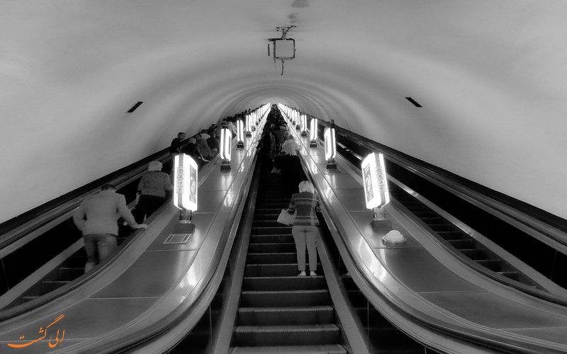 عمیق ترین ایستگاه متروی جهان در کیف