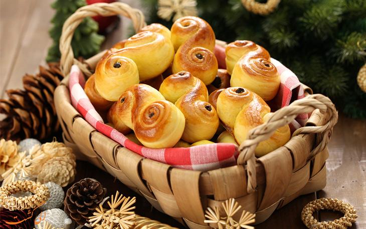 نان زعفرانی سوئدی