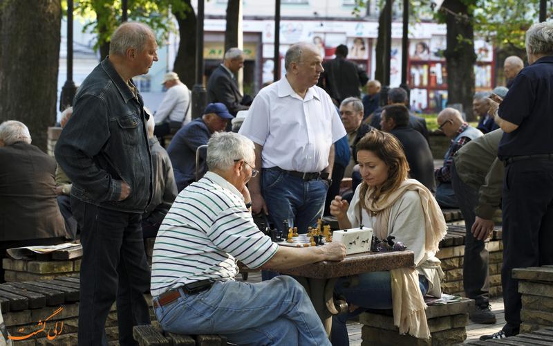 بازی شطرنج در شهر کیف