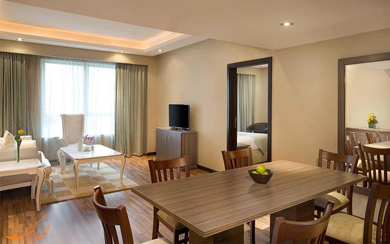 نشیمن اتاق های هتل نیو بلک استون دبی