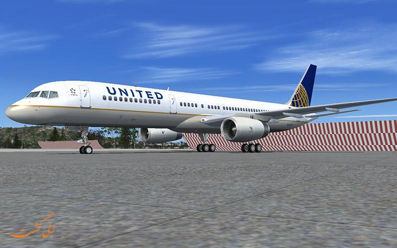 هواپیمای بوئینگ 757 یوایتد ایرلاین