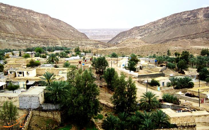 نمایی از روستای بناب در هرمزگان