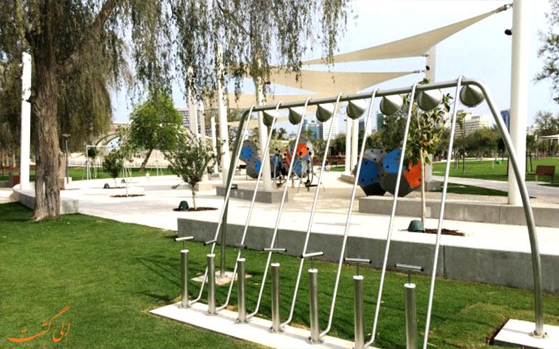 چمن پارک مرکزی مشرف ابوظبی
