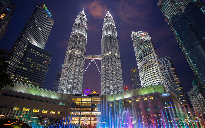 برج های دوقلوی پتروناس کوالالامپور-جاذبه های گردشگری کوالالامپور