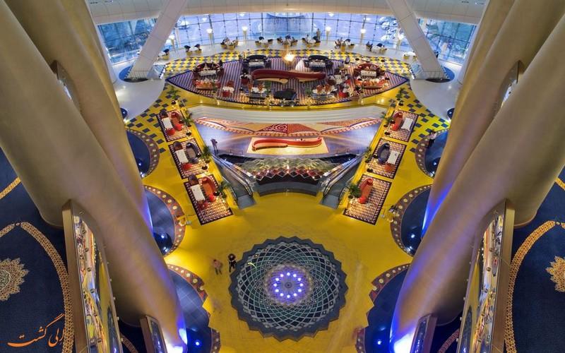 هتل 5 ستاره برج العرب در دبی-رستوران