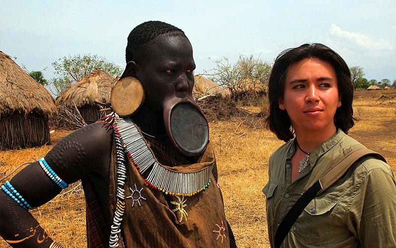 قبیله-سورما-اتیوپی-مردان قبیله