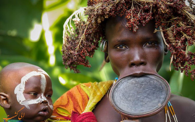 قبیله-سورما-اتیوپی-زنان