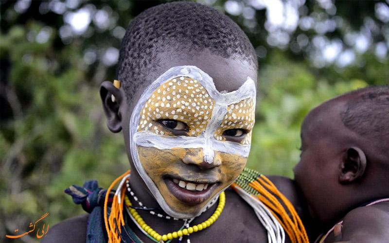 قبیله-سورما-اتیوپی-کودکان