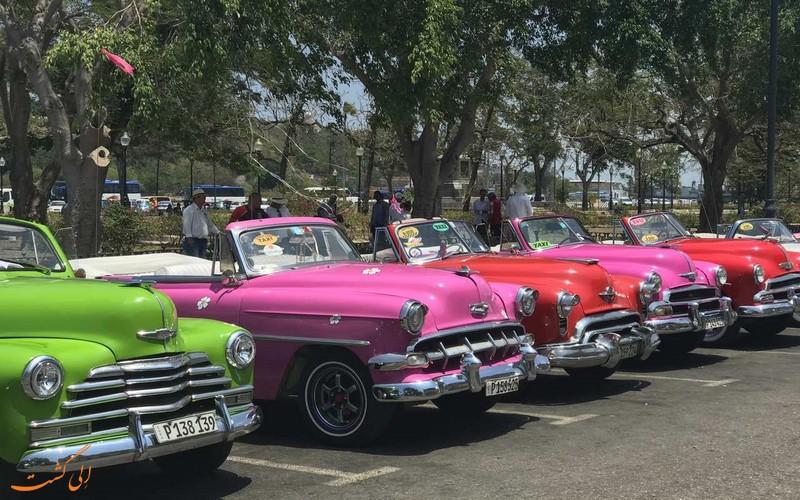 اتومبیل های رنگارنگ هاوانا