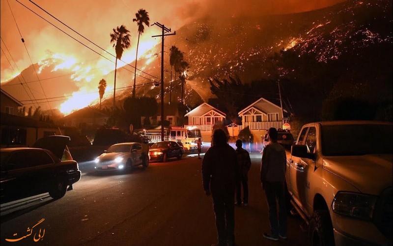 حریق در کالیفرنیای