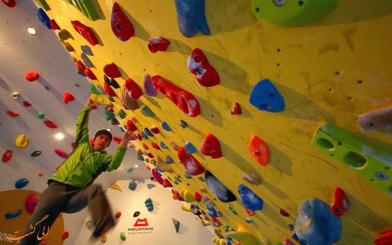 صخره نوردی در باشگاه