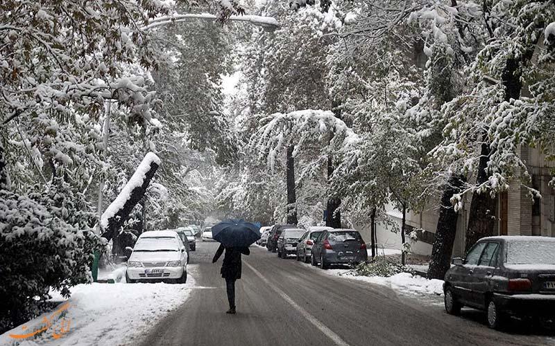 تهران در فصل زمستان