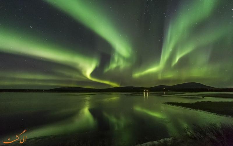 تماشای شفق قطبی در لاپلند