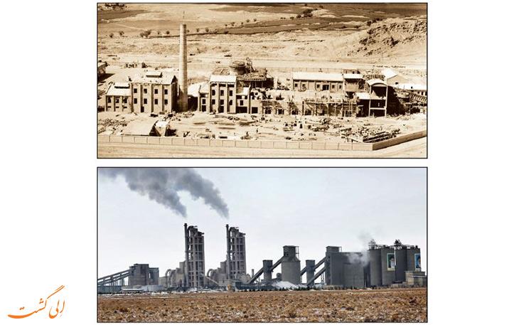 کارخانه سیمان در شهرستان ری در گذر زمان