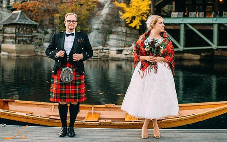 لباس عروس اسکاتلند