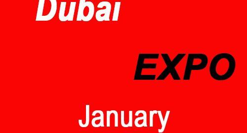 نمایشگاه های دبی در ماه ژانویه 2019