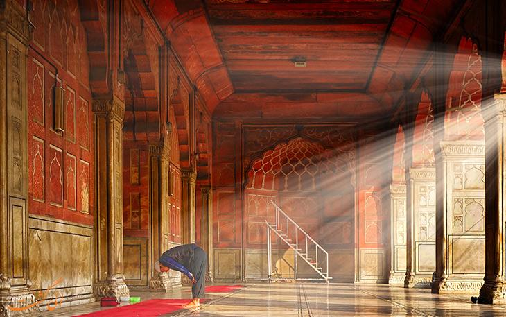 نمایی از مسجد جامع دهلی