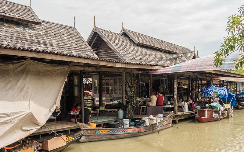 بازار شناور پاتایا و رستوران ها