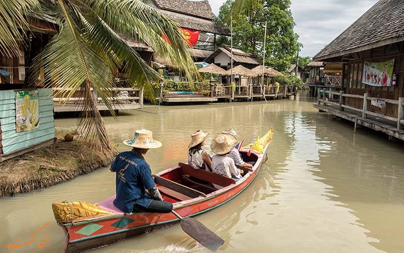 بازار شناور پاتایا و قایق سواری