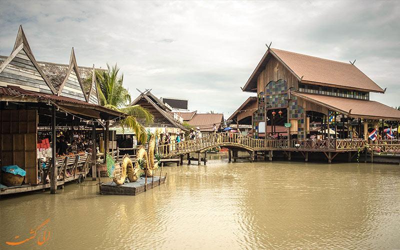 بازار شناور پاتایا و کانال های آبی