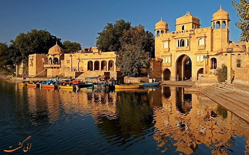 دریاچه گادسیسار در شهر جیسالمر هند