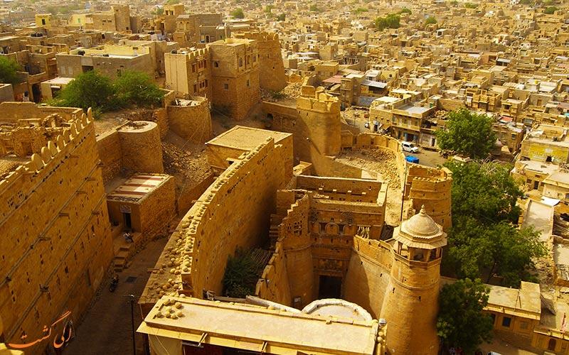 قلعه جیسالمر در شهر جیسالمر هند