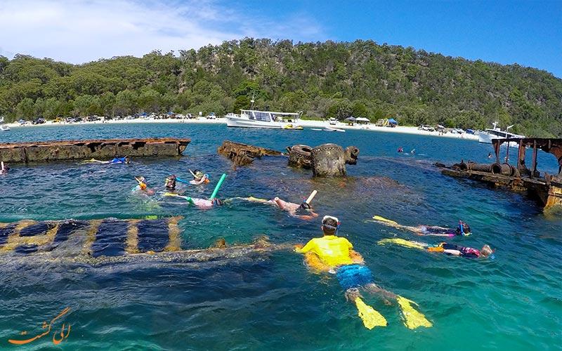 لاشه های کشتی تانگالوما استرالیا-غواصی