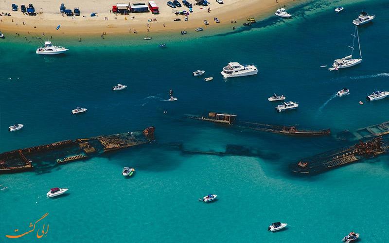 لاشه های کشتی تانگالوما استرالیا