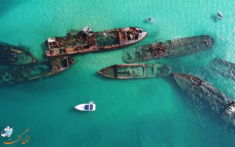 موقعیت لاشه های کشتی تانگالوما استرالیا