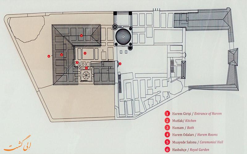 نقشه-بنای کاخ اسحاق پاشا ترکیه