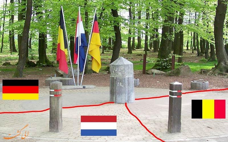 مرز بین کشورهای مختلف