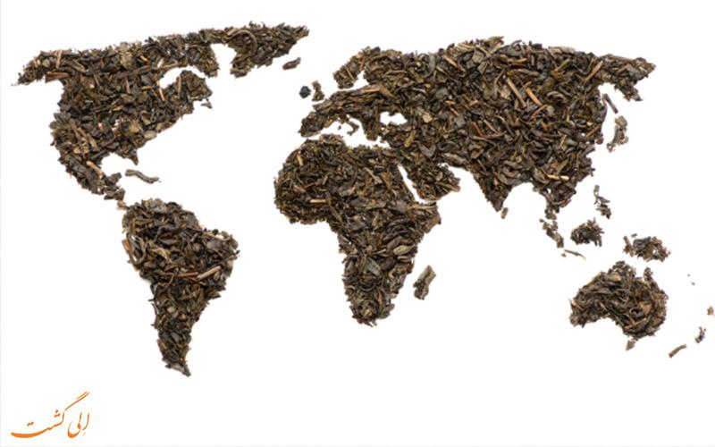 کشورهای تولید کننده چای