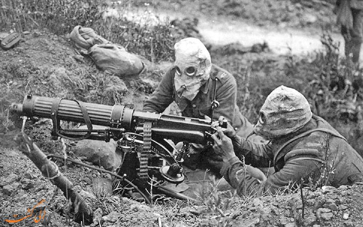 اسلحه هیرام ماکسیم در جنگ جهانی اول