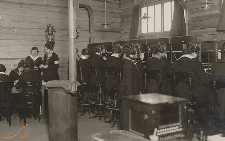 اپراتورهای تلگراف به نام سلام دختران در جنگ جهانی اول