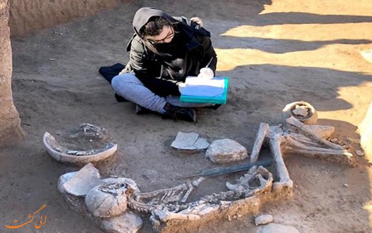 کشف گور جنگاور سه هزار ساله