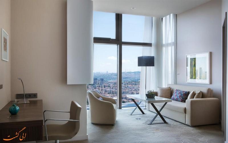 هتل 5 ستاره مریوت شیشلی در استانبول