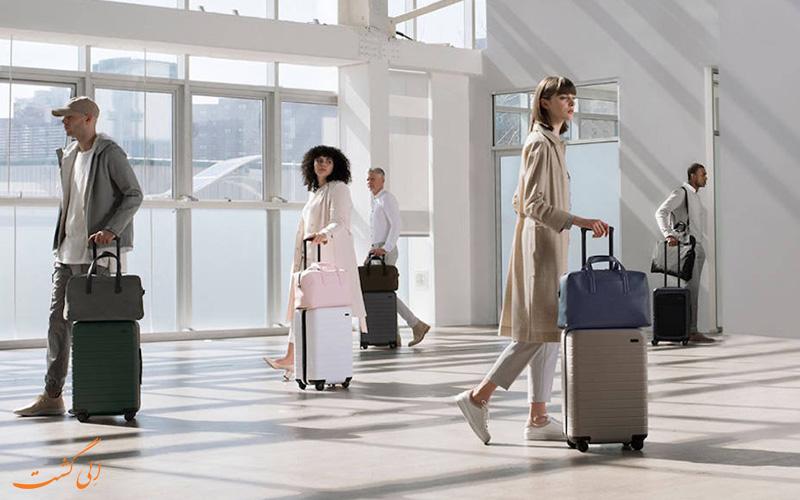 نگهداری از چمدان در سفر