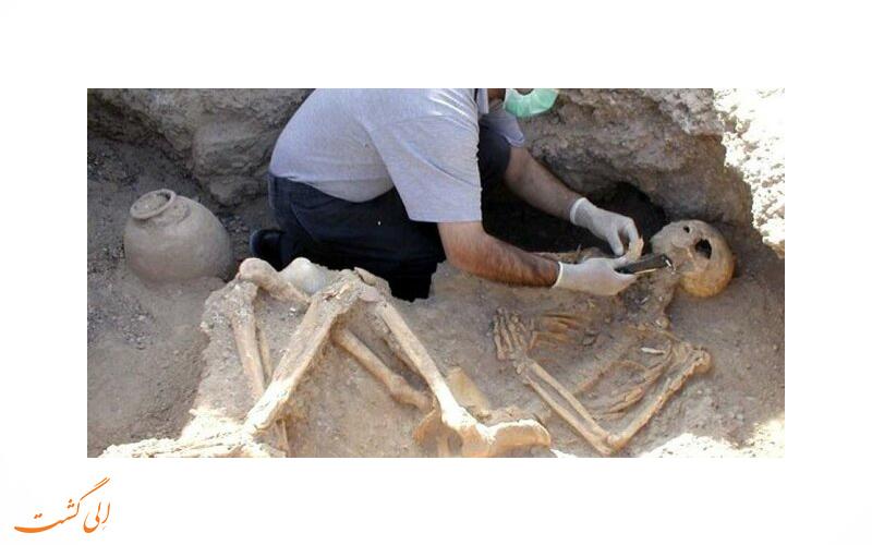 کشف اسکلت باستانی در البرز