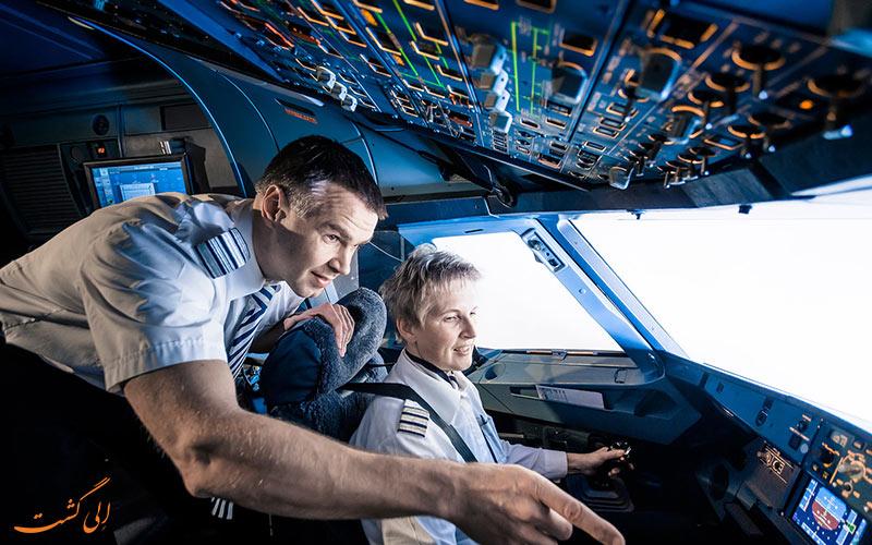تفاوت خلبان مسافربری با باری