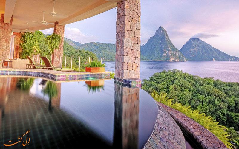 JadeMountain از بهترین هتل های کوهستانی دنیا