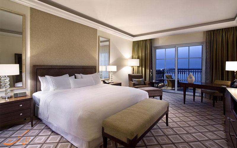 انواع اتاق های هتل وستین دبی مینا
