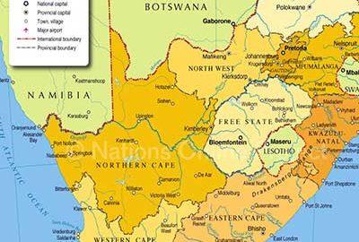 نقشه کامل آفریقای جنوبی
