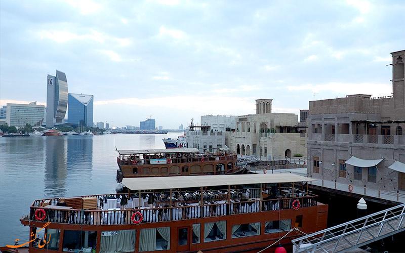 قایق سنتی دبی و محله بستکیه دبی