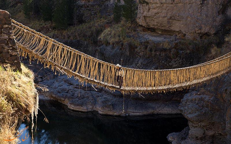 قدیمی ترین پل طنابی اینکاها در جهان