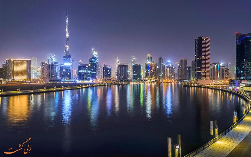 موقعیت هتل کانال سنترال دبی
