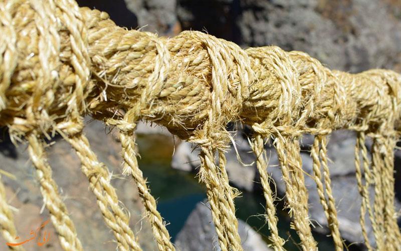 نحوه بافتن طناب ها از الیاف در پل طنابی اینکاها