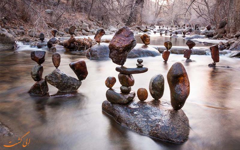 نحوه تعادل سنگ ها