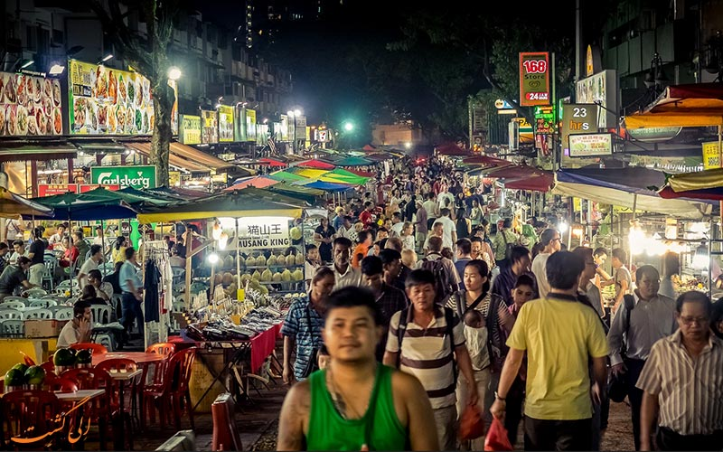 نحوه دسترسی به خیابان جالان آلور کوالالامپور