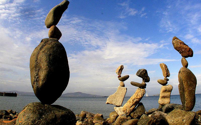 نحوه چیدن و تعادل سنگ ها