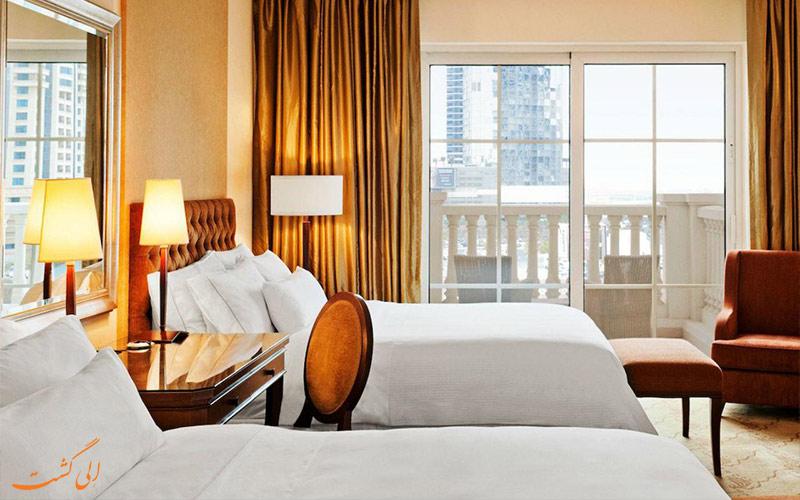 نمای اتاق ها در هتل وستین دبی مینا